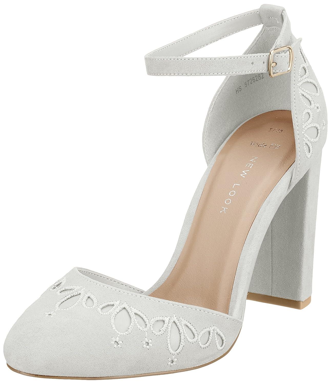 New Look Wide Foot Shottle, Zapatos de tacón con Punta Cerrada para Mujer