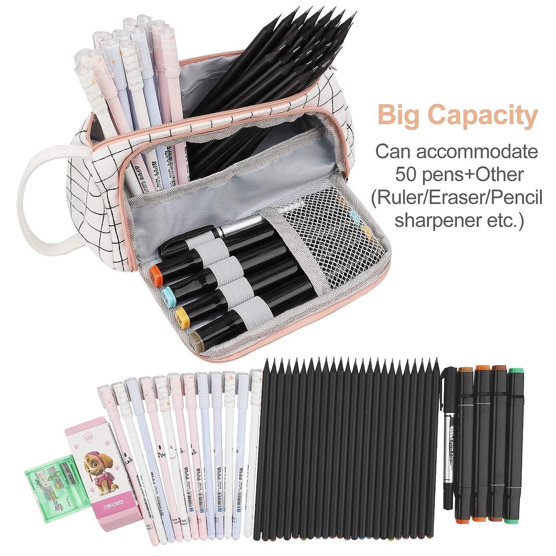 Amazon.com: Estuche de tela para lápices, gran capacidad ...