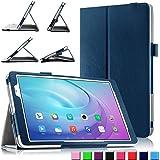 HuaWei MediaPad T2 10.0 Pro Hülle, Infiland Slim Fit Folio PU-lederne dünne Kunstleder Schutzhülle Cover Tasche für Huawei MediaPad T2 10.0 Pro 25,7 cm (10,1 Zoll) IPS Tablet PC(Dunkleblau)