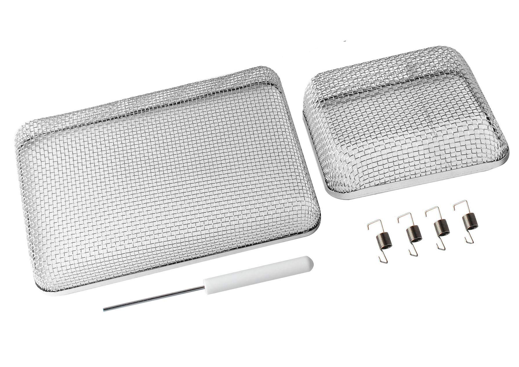 RV Furnace Screen for RV Water Heater Vent Cover, Stainless Steel Mesh with Installation Tool