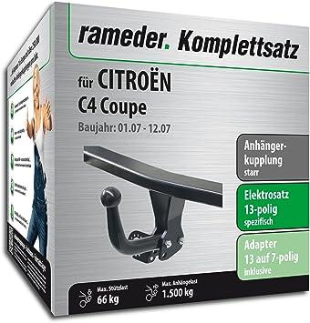 rameder Juego completo, remolque fijo + 13POL Elektrik para Citroën C4 Coupe (113330 - 05220 - 7): Amazon.es: Coche y moto