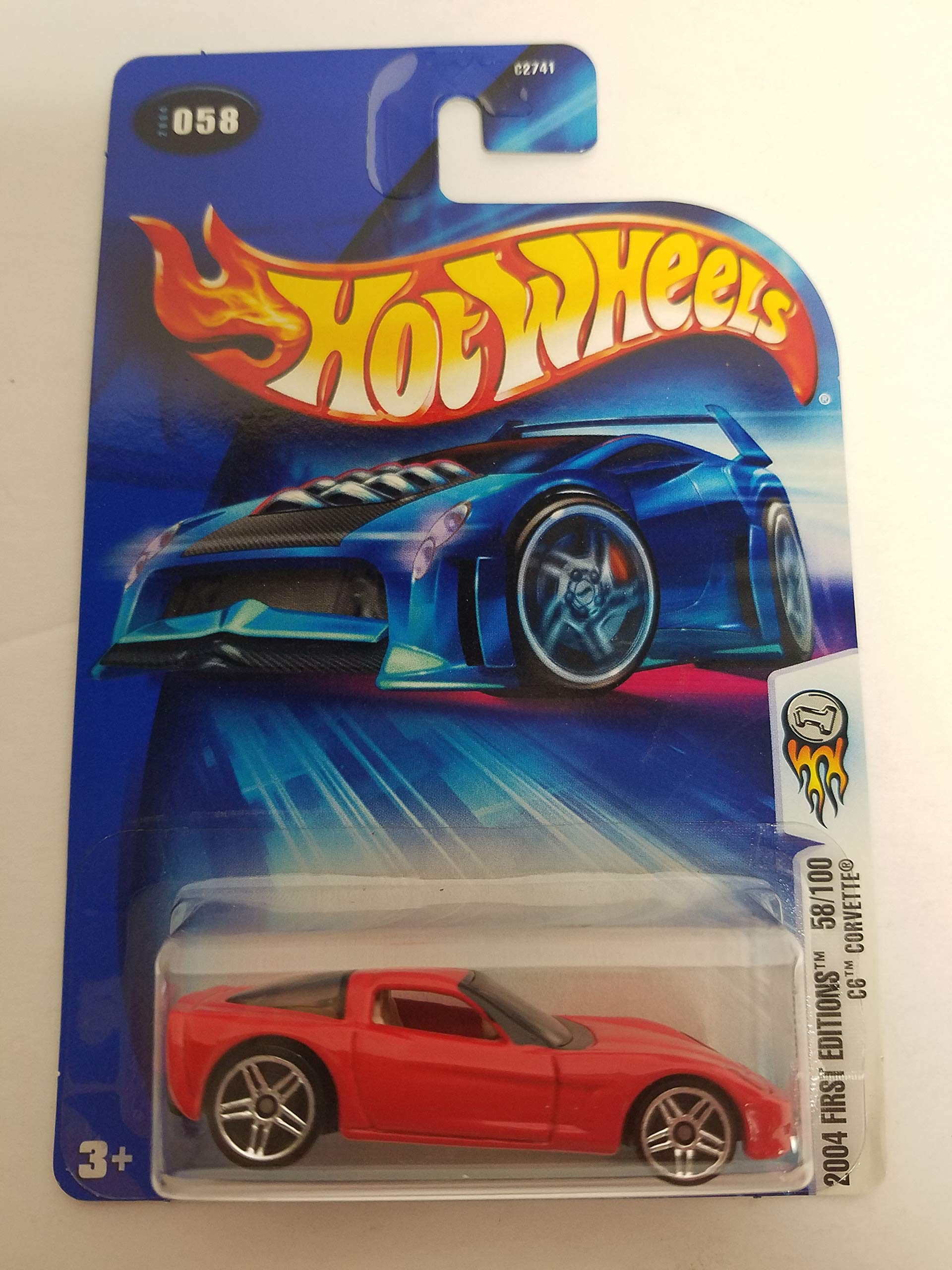 C6 Corvette 2004 First Editions 58/100 Hot Wheels Diecast Car No. 058