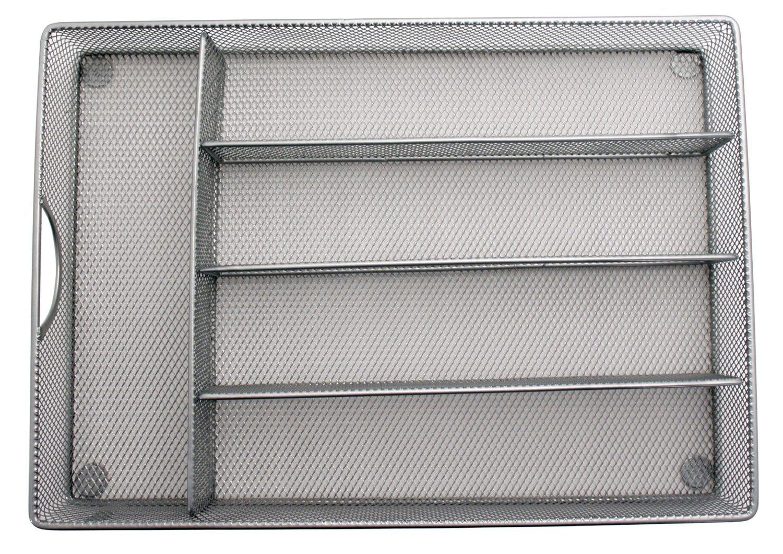 Yesker Mesh Small Cutlery Tray with Foam Feet - Kichen Organization/Silverware Storage by Storage Techngologies by Yesker (Image #5)