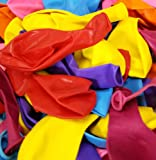 "12"" Large Latex Party Balloons. Helium Quality. 100 Color Balloons with Pump. 10 Assorted Colors"