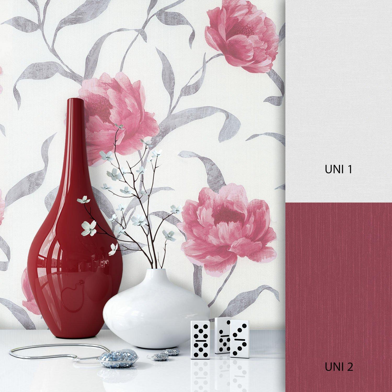 NEWROOM Papel pintado de flores beige velló ntapete Florale Muster Blumen hermoso diseñ o moderno 3d mirada , incluyendo papel tapiz guí a incluyendo papel tapiz guía Newroom Design