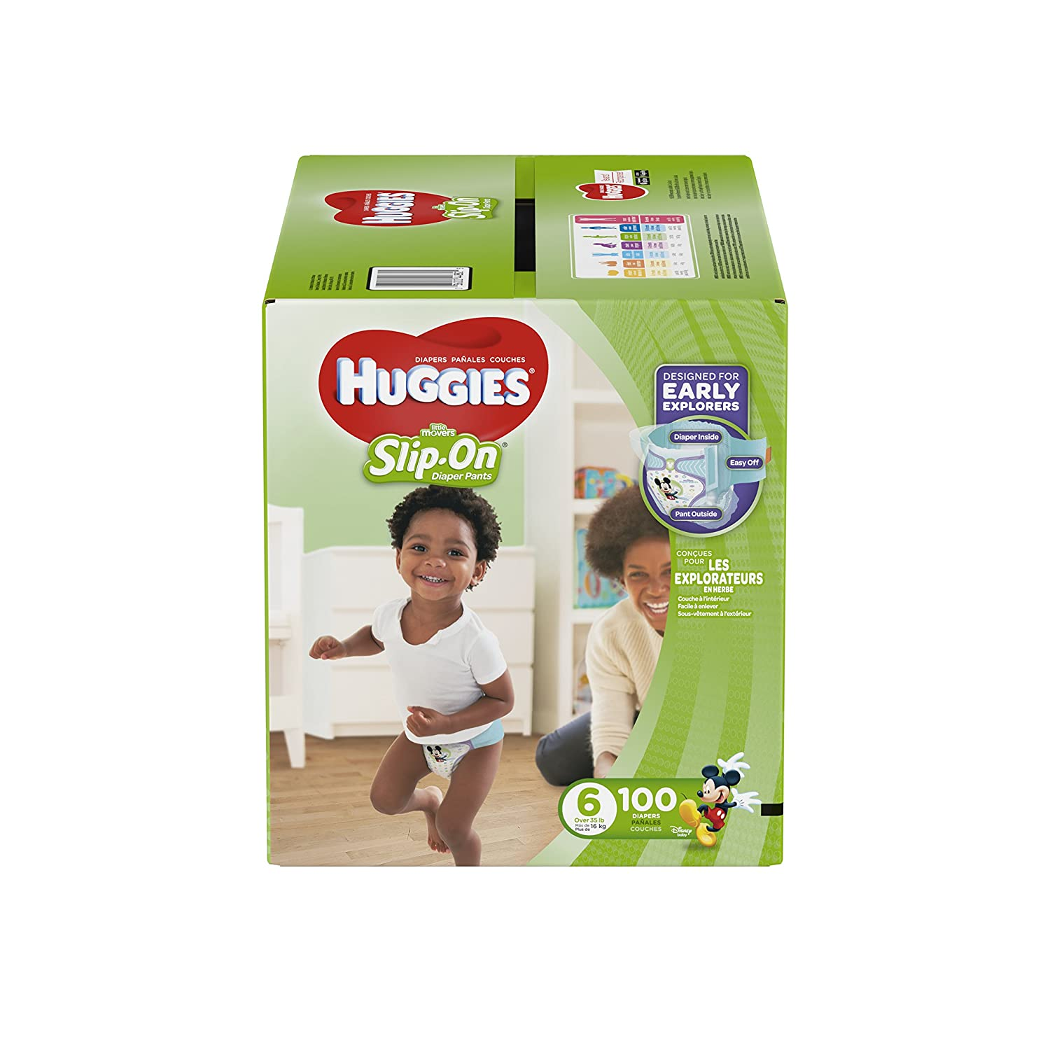 HUGGIES LITTLE MOVERS Slip-On Baby Diapers, Size 4, 148ct Kimberly-Clark Corp. CA 37301