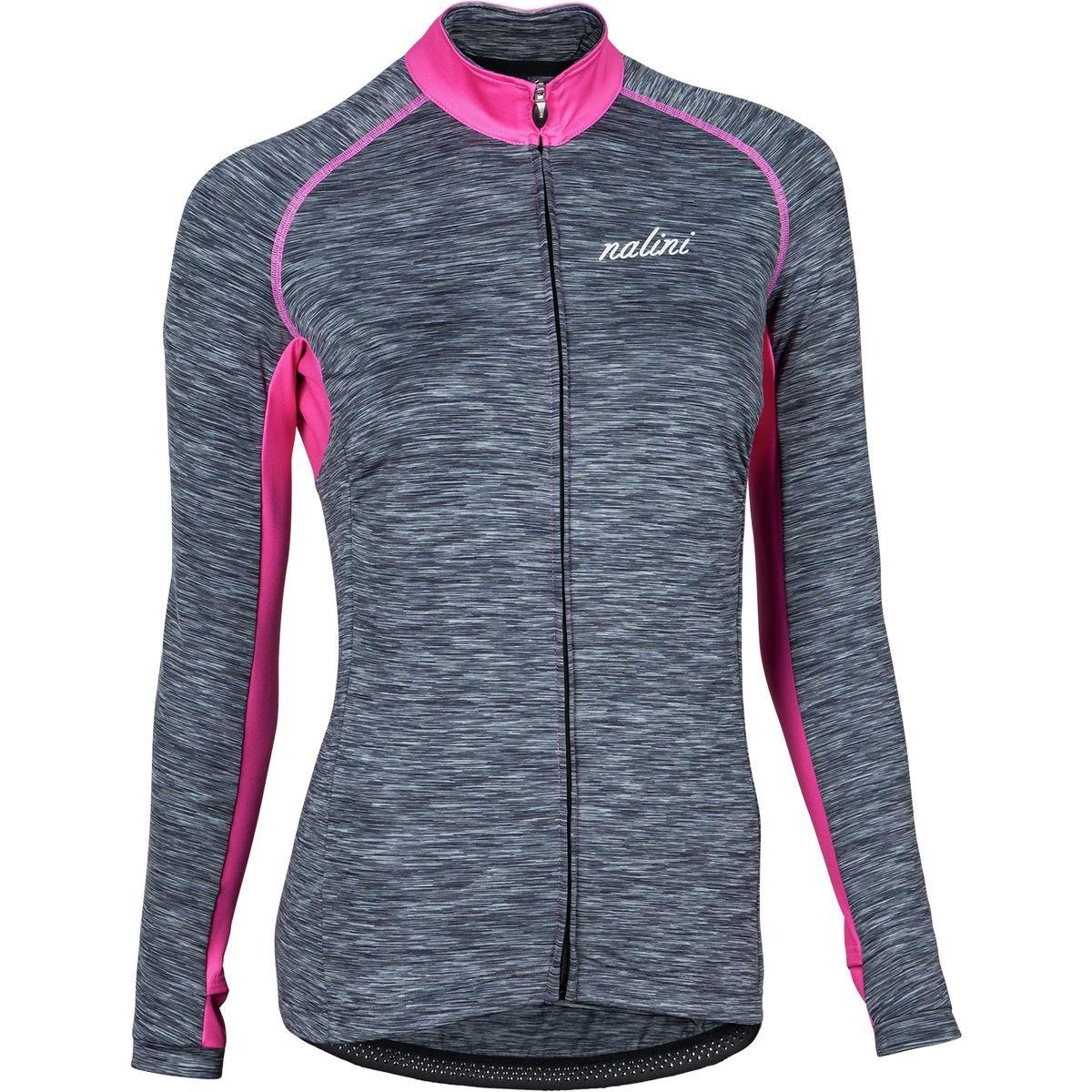 ナリーニ(ナリーニ) 4010 NUNKI サイクルウェア 自転車ジャージ 0248344010 HEATHER GRAY B076HWG6KJ Medium|グレー/ピンク グレー/ピンク Medium