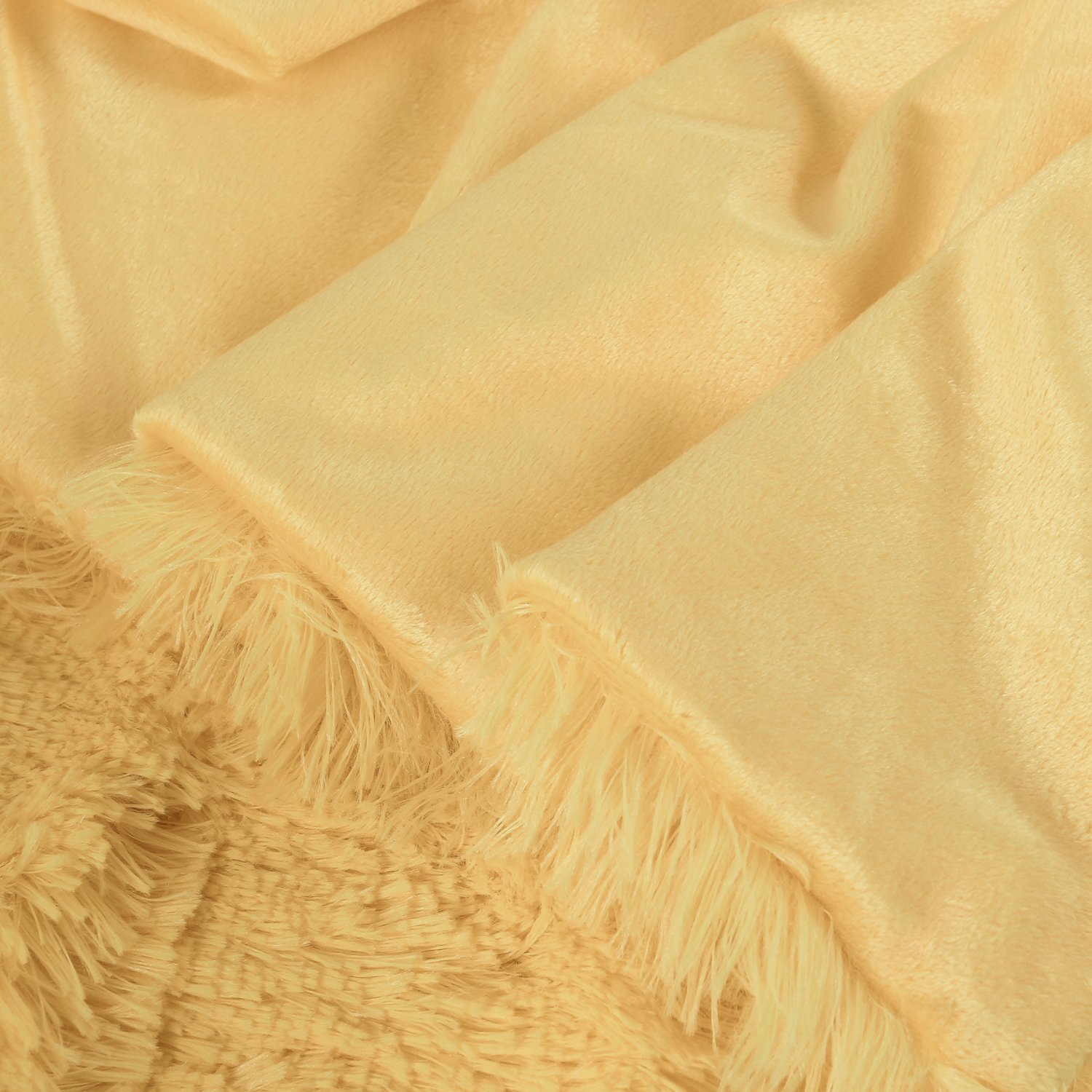 DSM060P Ltd CaliTime Super Soft Blanket Throw for Couch Sofa Bed Elegant Cozy Plush Warm Faux Fur Solid Color 60 X 80 Inches Gold Qingdao PT Trading Co