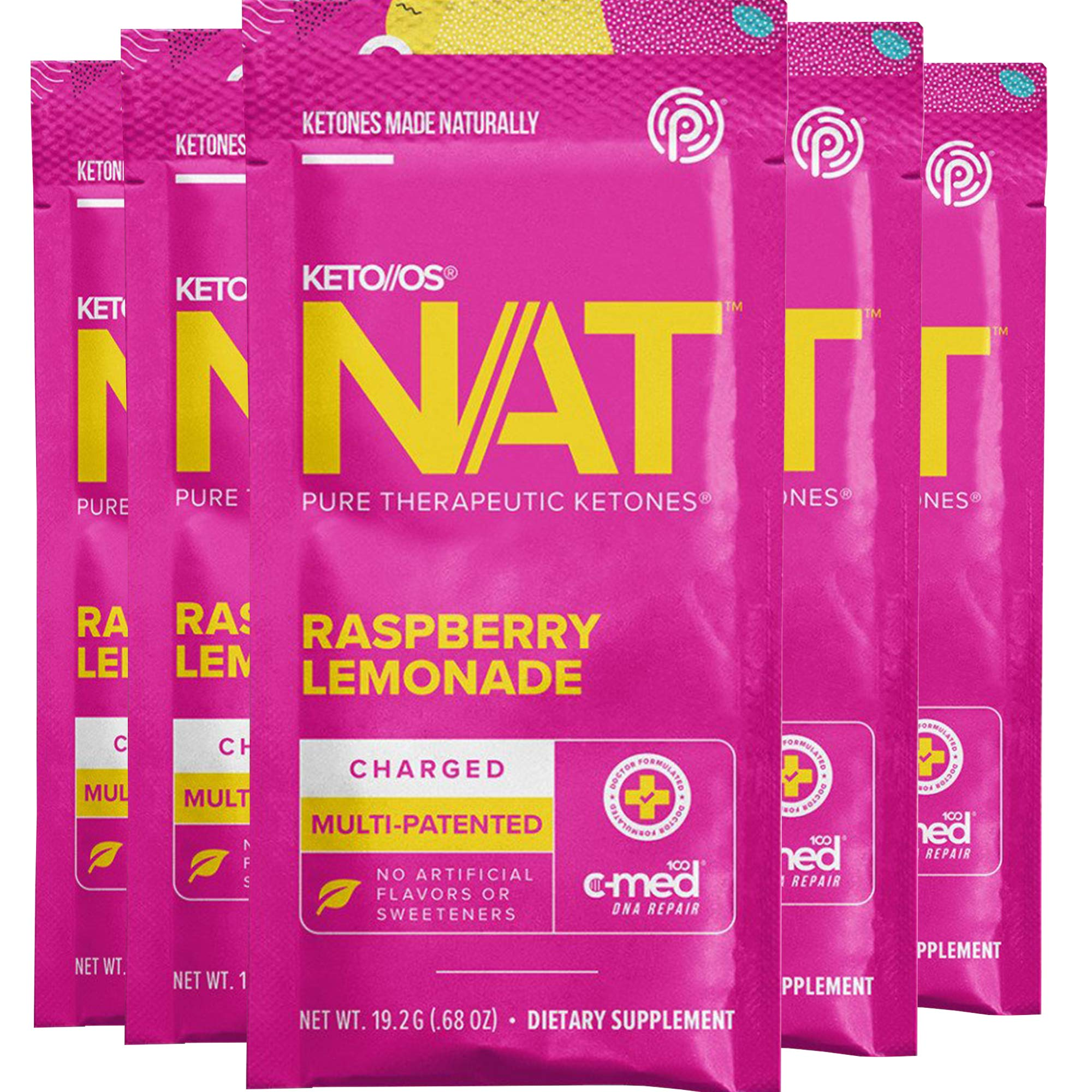 Pruvit Keto//OS NAT – Raspberry Lemonade Charged (5 Single Serve Packets)                BulkSupplements Raspberry Ketones (100 Gelatin Capsules)                Perfect Keto Collagen Peptides Protein Powder with MCT Oil   Hydrolyzed Collagen, Type I & III Supplement   Non-GMO, Gluten Free, Grassfed, Keto Creamer in Coffee   Shakes for Women & Men – Chocolate                Perfect Keto Test Strips - Best for Testing Ketones in Urine on Low Carb Ketogenic Diet, Ketosis Home Urinalysis Tester Kit, 100 CT                Zhou Nutrition Keto Drive Exogenous Ketone Performance Complex - BHB Salts - Formulated for Ketosis, Energy and Focus - Patented Beta-Hydroxybutyrates (Calcium, Sodium, Magnesium) - Orange Mango