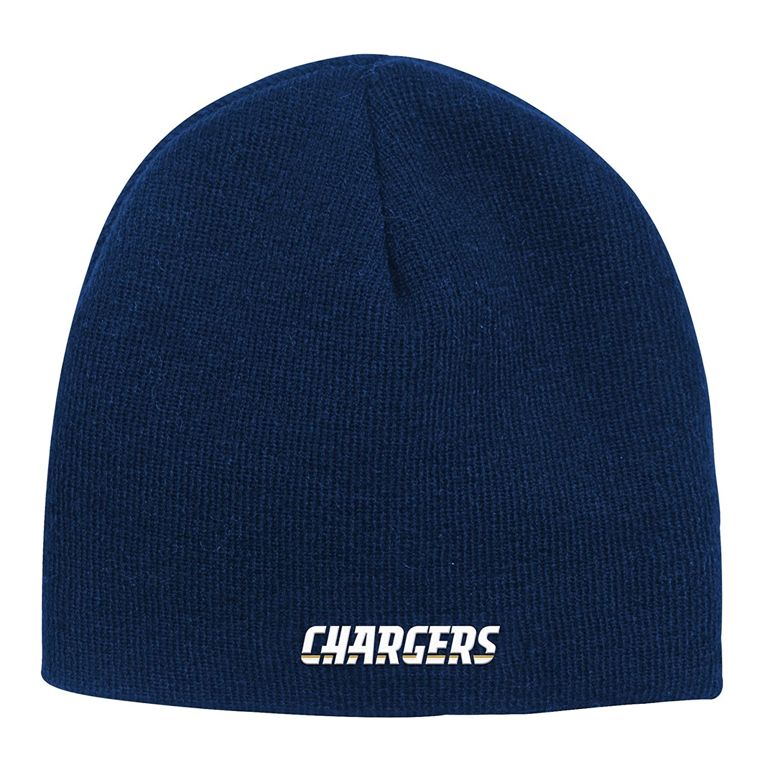 e6bfaa5d945 Amazon.com   Outerstuff NFL Youth Boys Basic Cuffless Knit Hat-Dark Navy-1  Size
