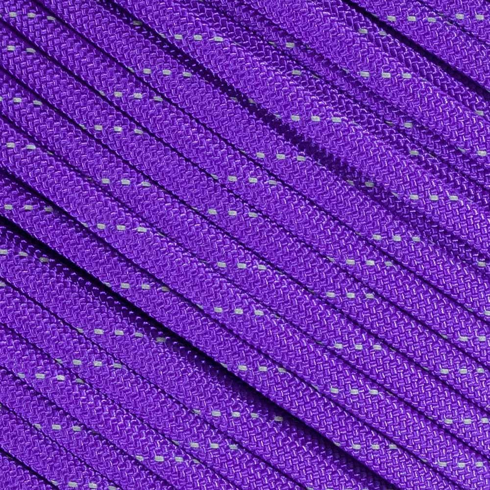 Fluorescent Reflective 550 Type III Guyline Tent Rope Camping Survival Cord High-Visibility Paracord- Rot and UV Fade Resistant - Multiple Colors - Multiple Sizes