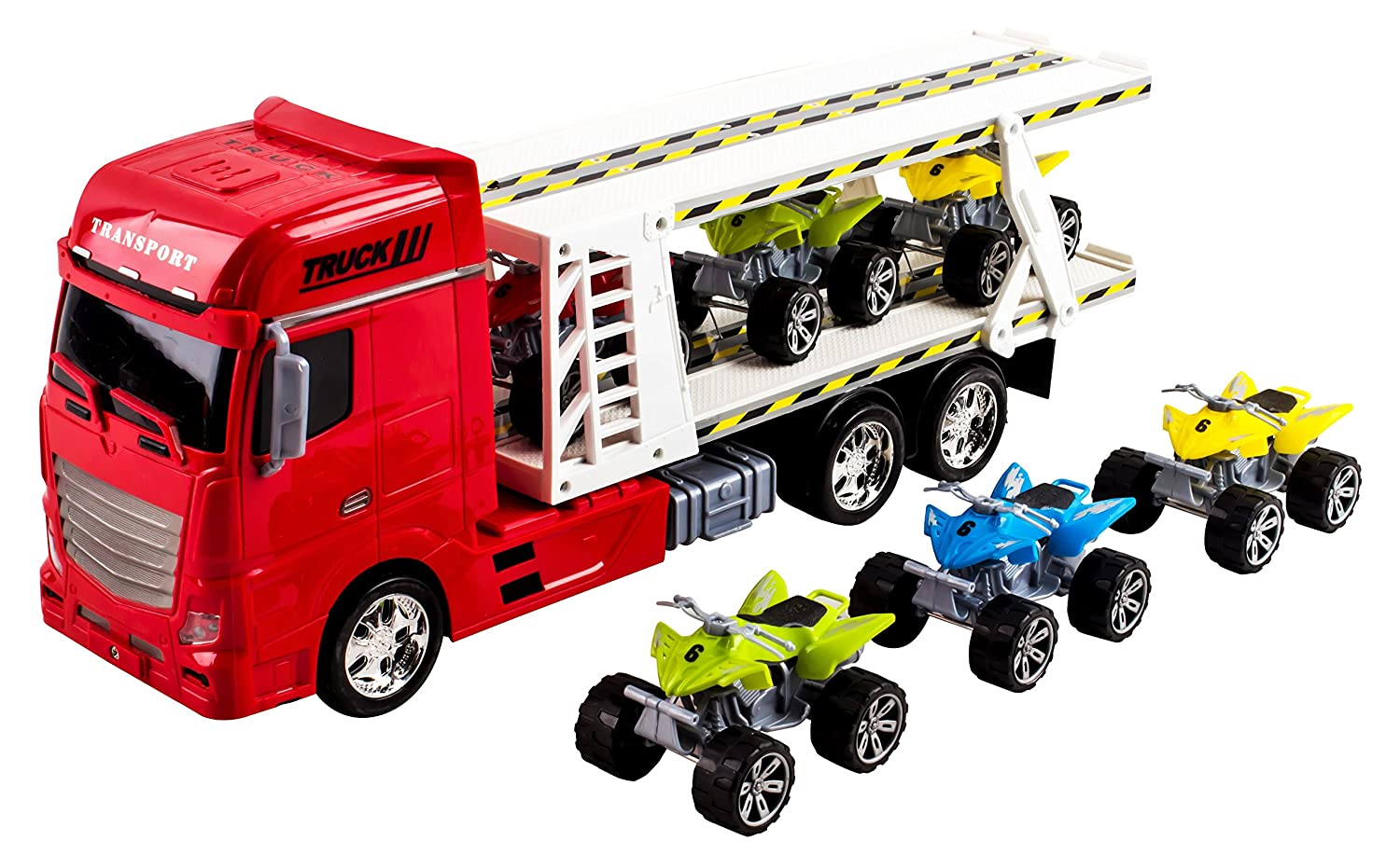 amazon com large toy semi truck toy truck big rig long trailer