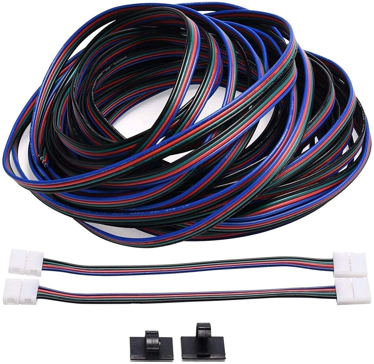 4Pin Extension Wire Cable RGB Connector Cord for 5050 3528 LED Strip Light Lamps