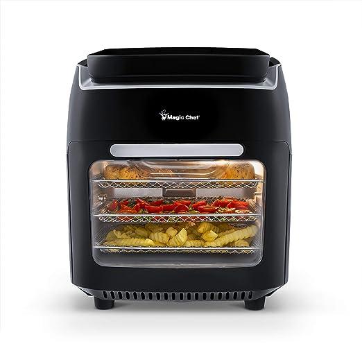 Magic Chef Freidora de aire horno 10.5 cuartos pantalla digital ...