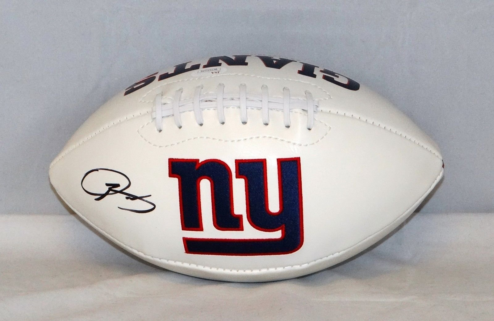 Odell Beckham Autographed New York Giants Logo Football JSA Authenticated