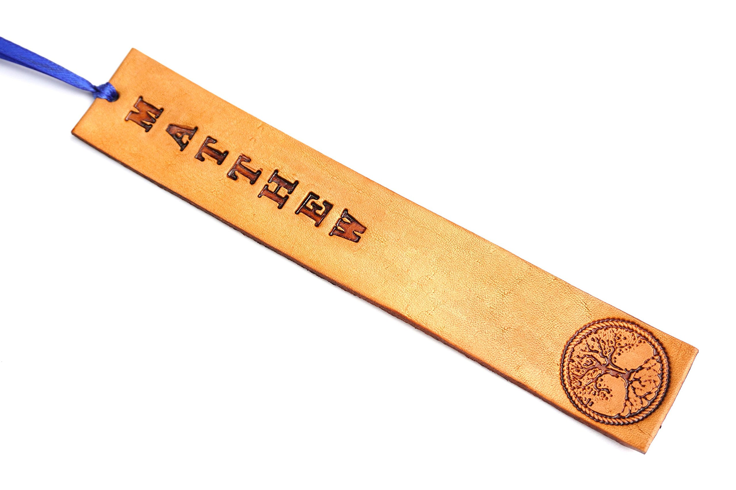 Personalized Handmade Real Leather Bookmark w/Choice of Stamp and Text