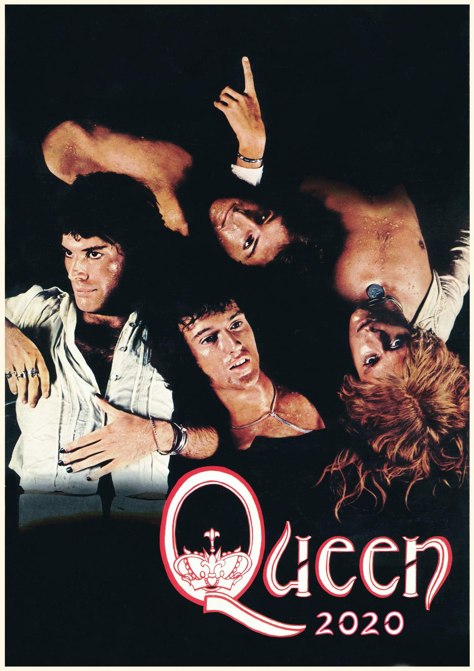 Queen 2 Freddie Mercury Photo Rock Band Legend Picture Vintage Music Poster