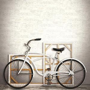 "RoomMates White Stuccoed Brick Peel and Stick Wallpaper, 20.5"" x 16.5 feet"