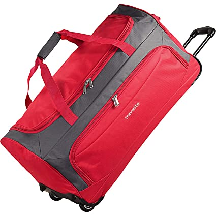 Travelite Garda XL Traveling Bag Duffle large with Wheels Ladies Men usable  as Trolley 72 cm rot grau  Amazon.co.uk  Luggage 95ad042af9621