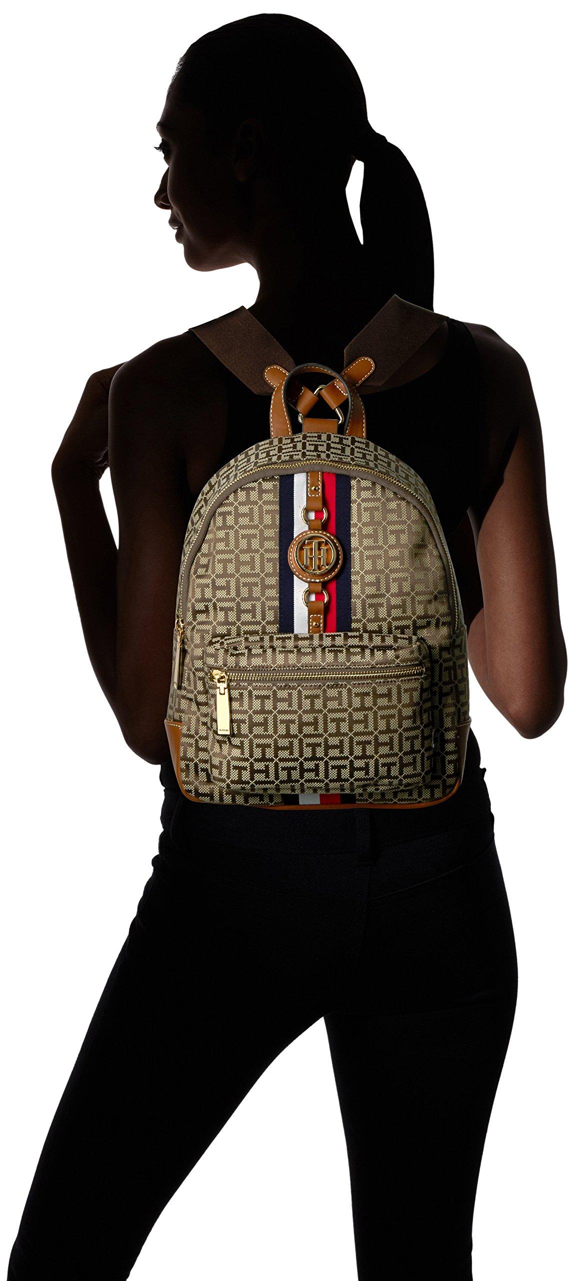 Tommy Hilfiger Women's Backpack Jaden, Tan Dark Chocolate by Tommy Hilfiger (Image #4)