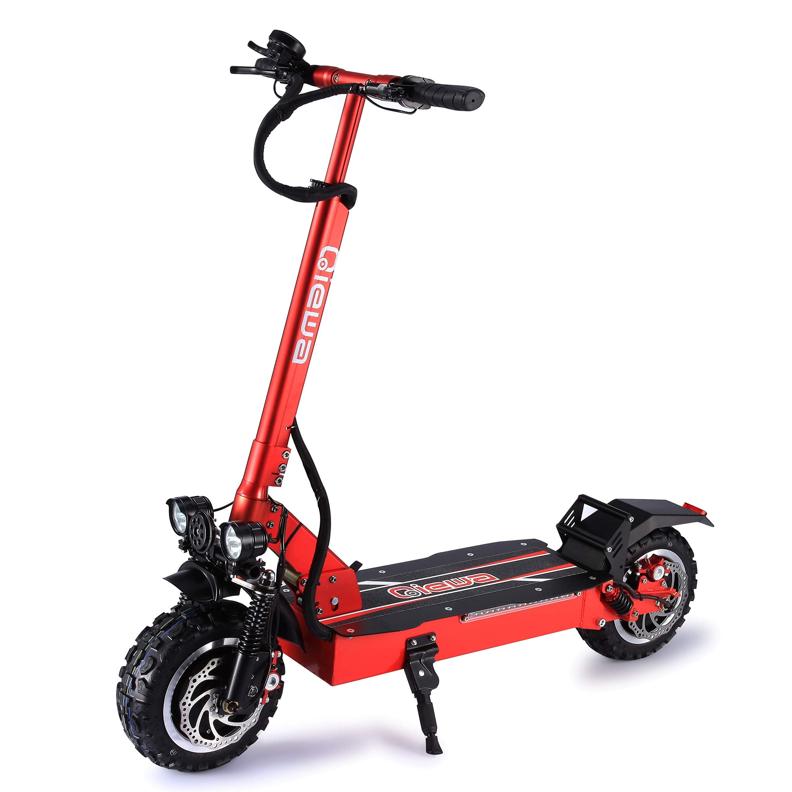 QIEWA Q-Power Double Motors Style Electric Scooter |60Volts+26AH Battery |Max Speed 56MPH |Travel Range 55 Miles| 45 Degree Double Shock Absorber | Double Hydraulic Brake | 3200Watts Doubles Motors |