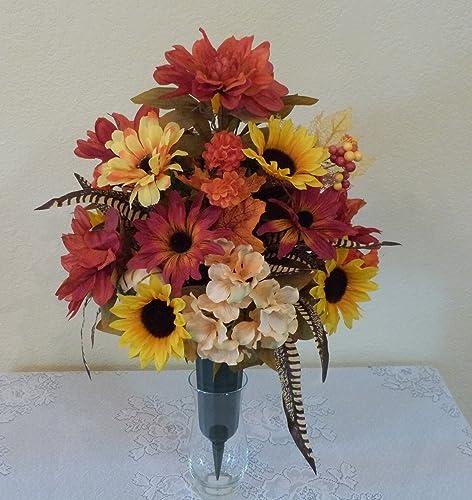 Amazon Fall Cemetery Vase Fall Cemetery Flowers Handmade
