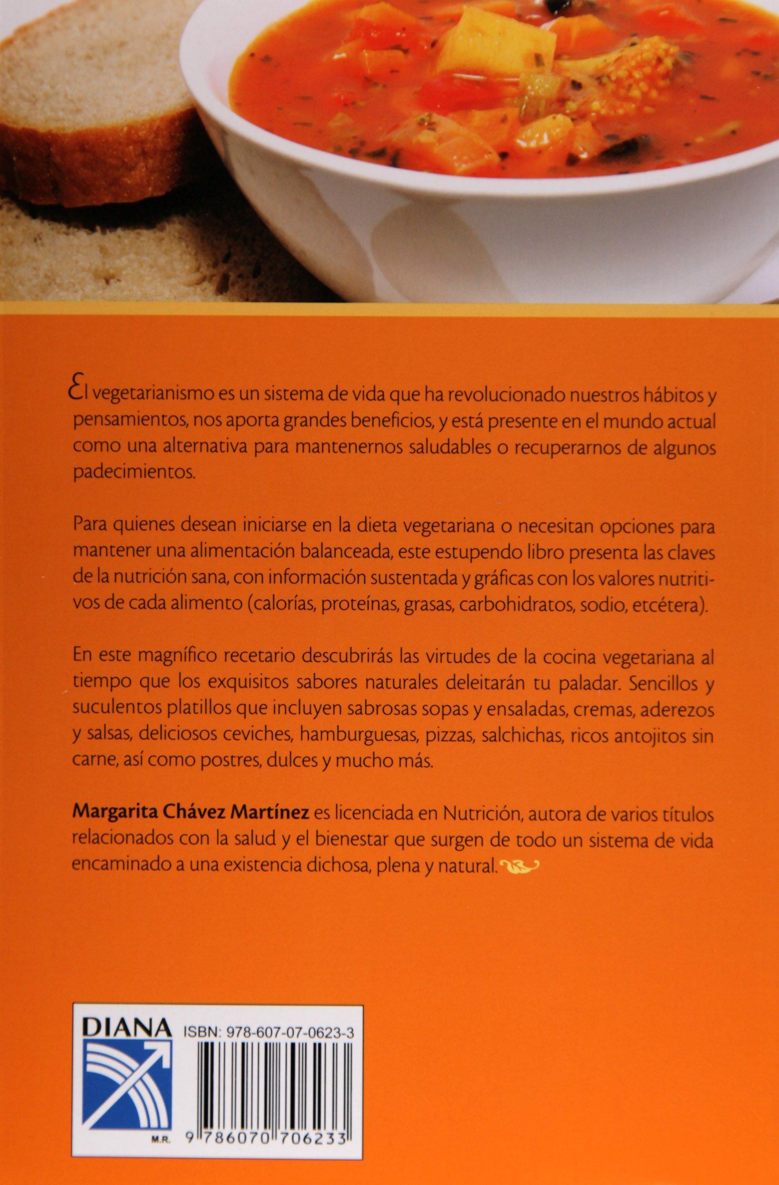 Manual de Nutricion y Comida Vegetariana (Spanish Edition): Margarita Chavez Martinez: 9786070706233: Amazon.com: Books