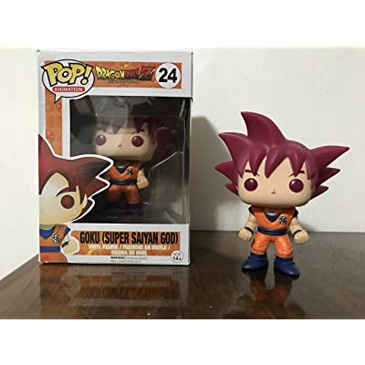 Funko POP! Anime: Dragonball Z Super Saiyan God Goku Vinyl Figure: Toys & Games