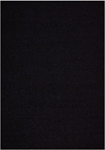 RugStylesOnline New Shaggy Collection Solid Color Shag Rugs Options Available Shag Area Rug, 6 7 W x 9 6 L, Black