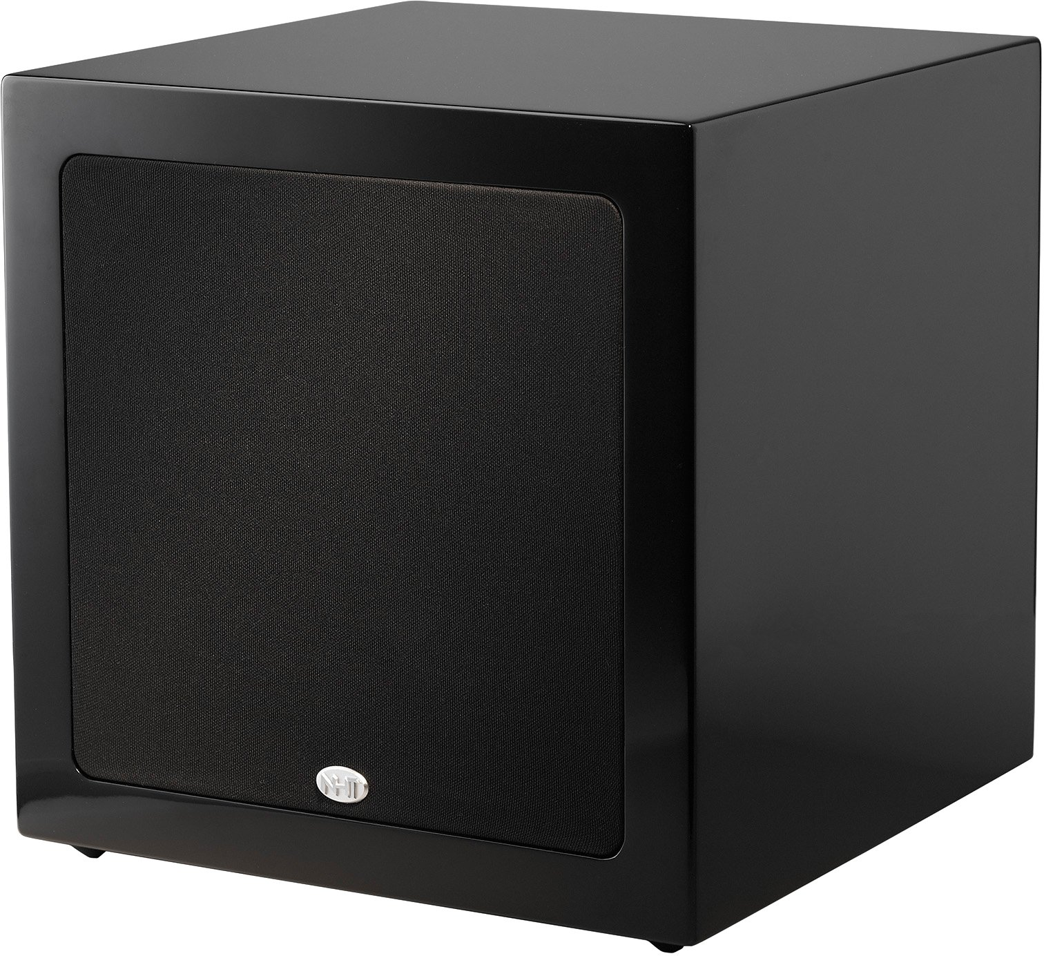 NHT CS-10 10-inch Long Throw Powered Subwoofer, 300 Watts - Piano Black High-Gloss Paint by NHT Audio