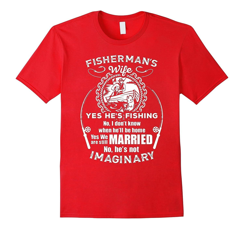 Womens Humor Fishermans Wife Shirt-TD