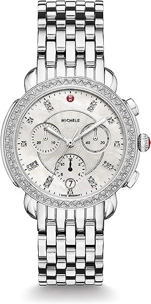 Michele Womens Sidney Diamond Dial Watch
