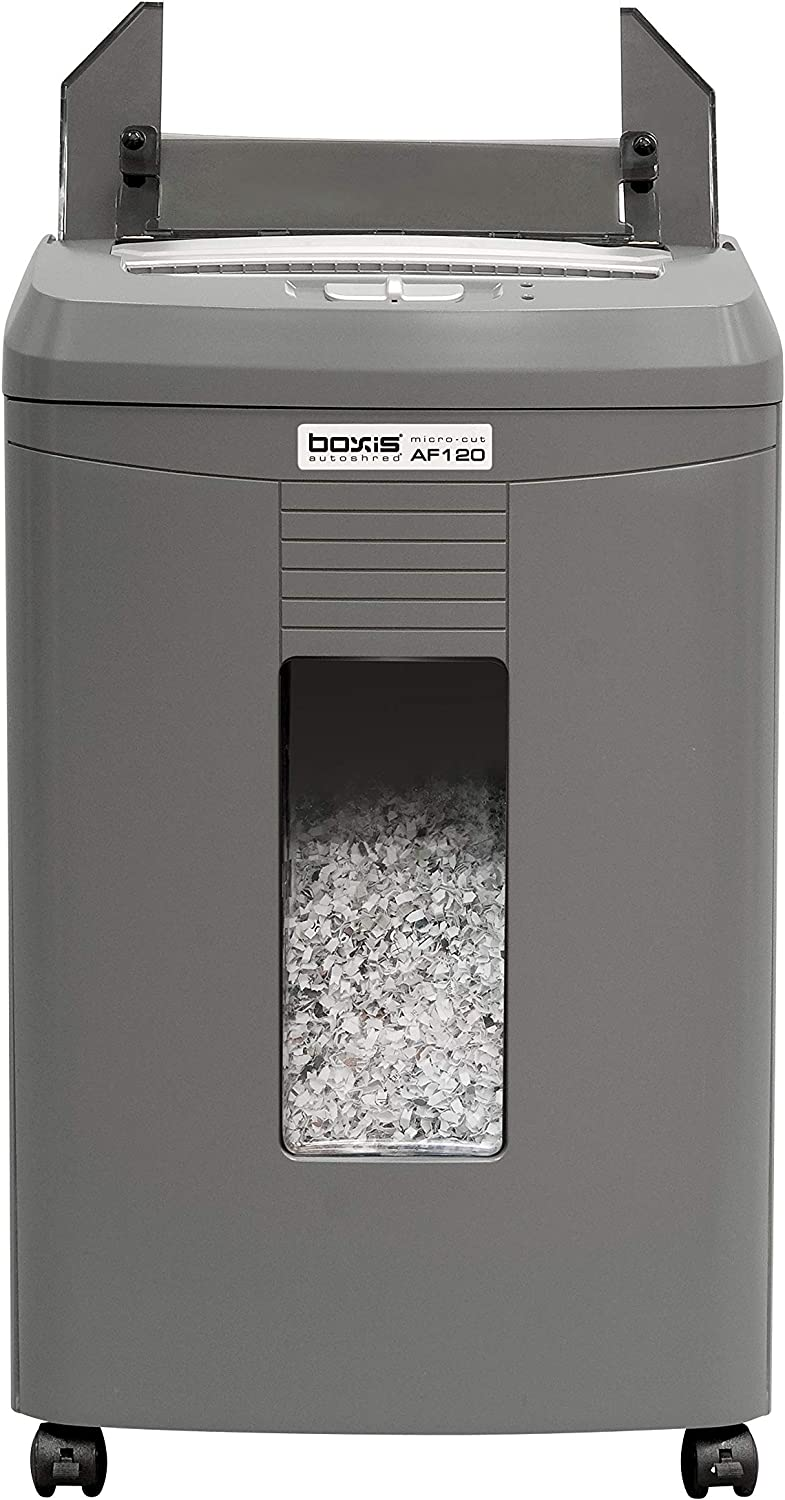 Boxis AutoShred 120-Sheet Auto Feed Microcut Paper Shredder