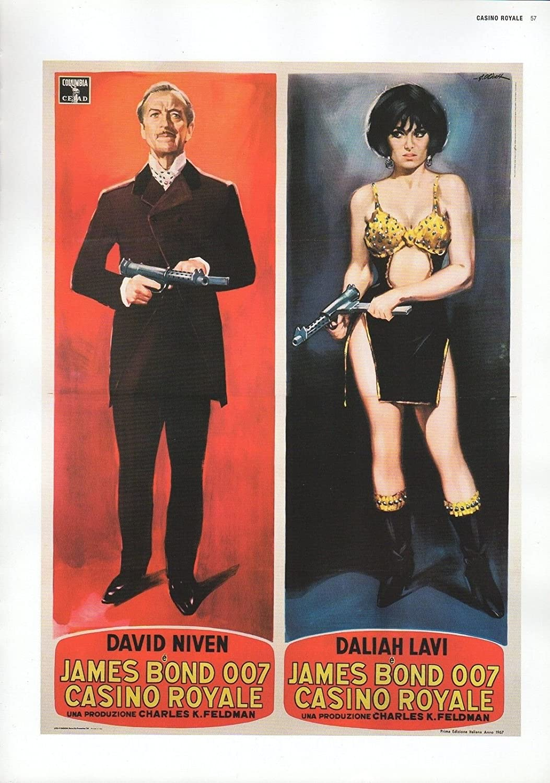 "2002 Vintage JAMES BOND 007 /""CASINO ROYALE/"" USA MINI POSTERS Art Plate Litho"