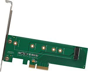 I/O Crest M.2 NGFF PCIe SSD to PCI Express 3.0 x4 Host Adapter Card - Support M.2 M-Key PCIe (NVMe or AHCI) Type 22110, 2280, 2260, 2242