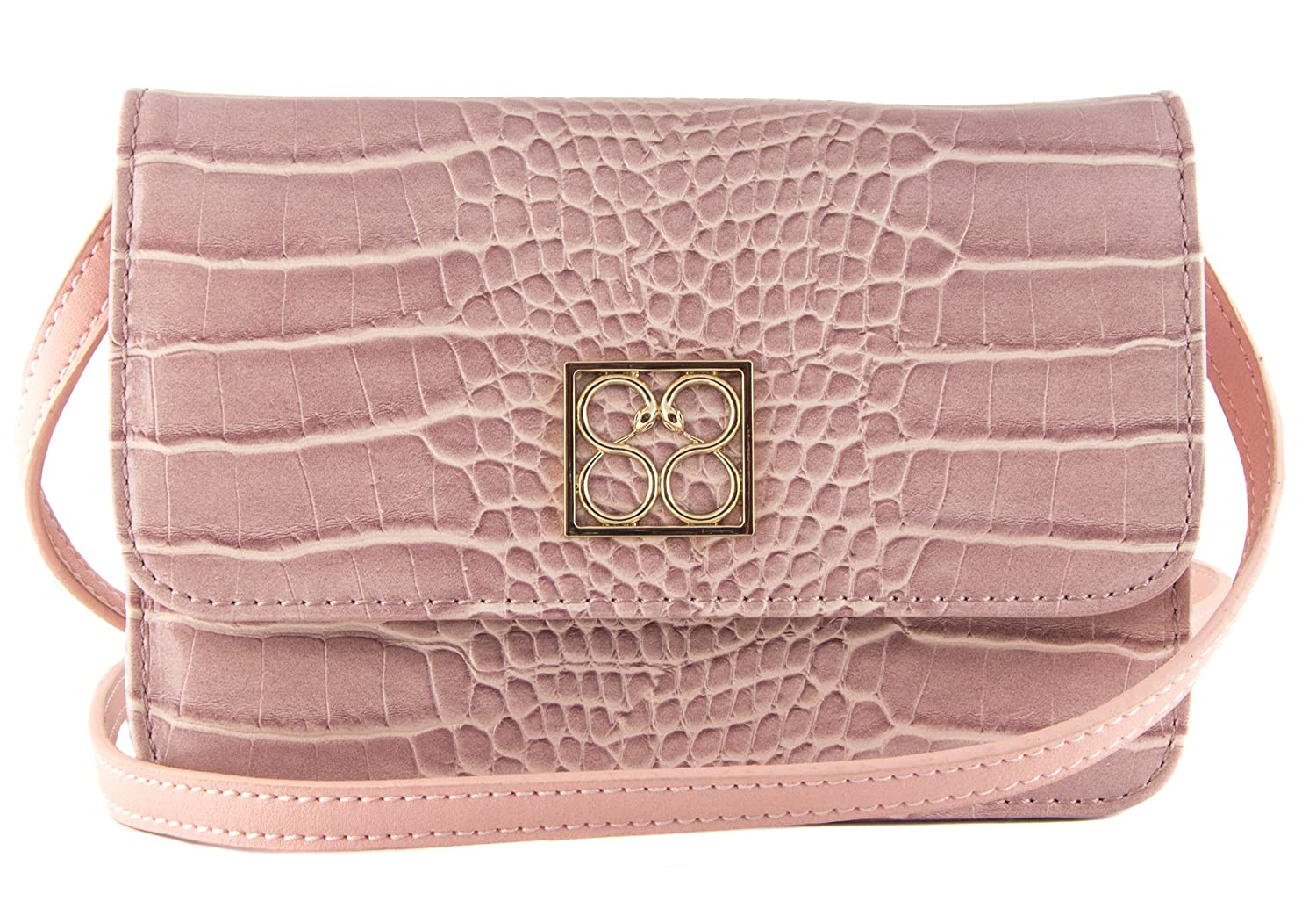 88 Vanessa Croco Print Mini Crossbody Bag
