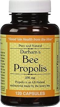 120-Count Durham's Bee Propolis Capsules 500mg