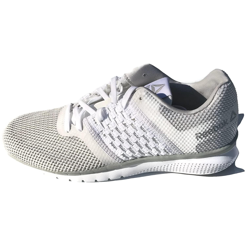 Reebok Women's Print Prime Runner Sneaker B076DNC1SP 6.5 B(M) US|White/Steel