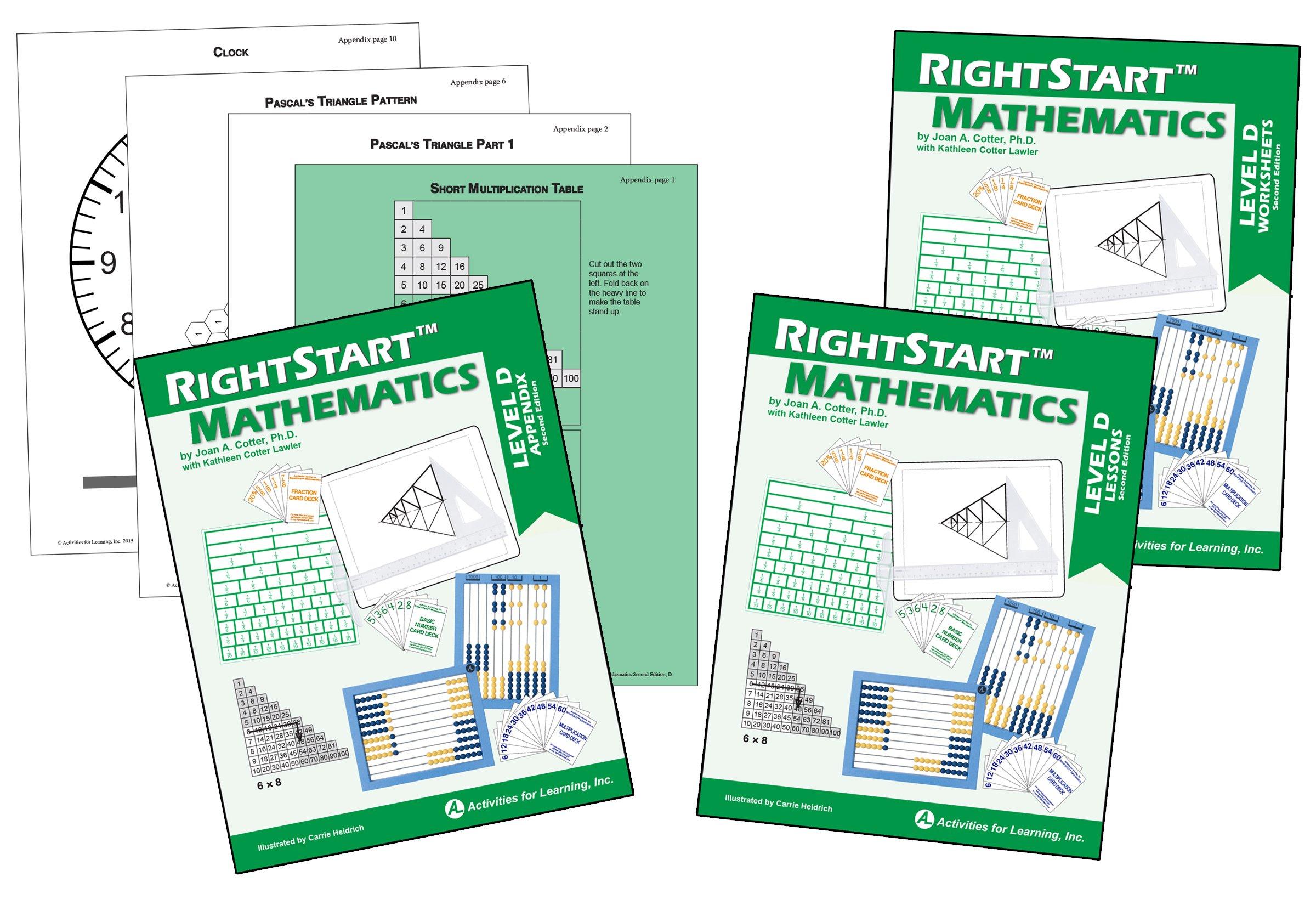 RightStart Mathematics Level D Book Bundle