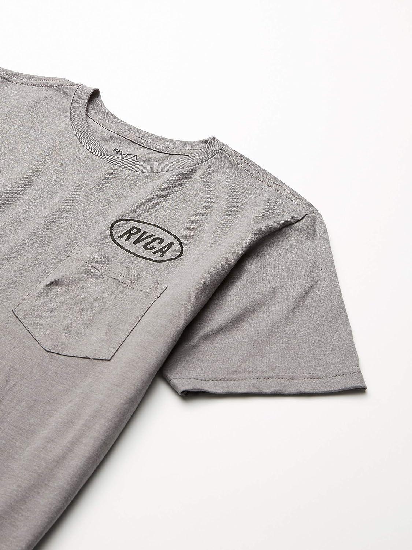 RVCA Mens Labour Short Sleeve Crew Neck Pocket T-Shirt