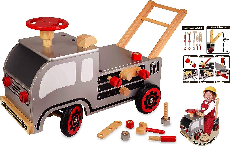 Lauflernwagen Werkbank - I'm Toy Schiebewagen Bauspiele