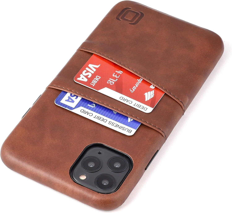 Dockem iPhone 11 Pro Max Wallet Case: Built-in Metal Plate for Magnetic Mounting & 2 Credit Card Holder Slots (6.5