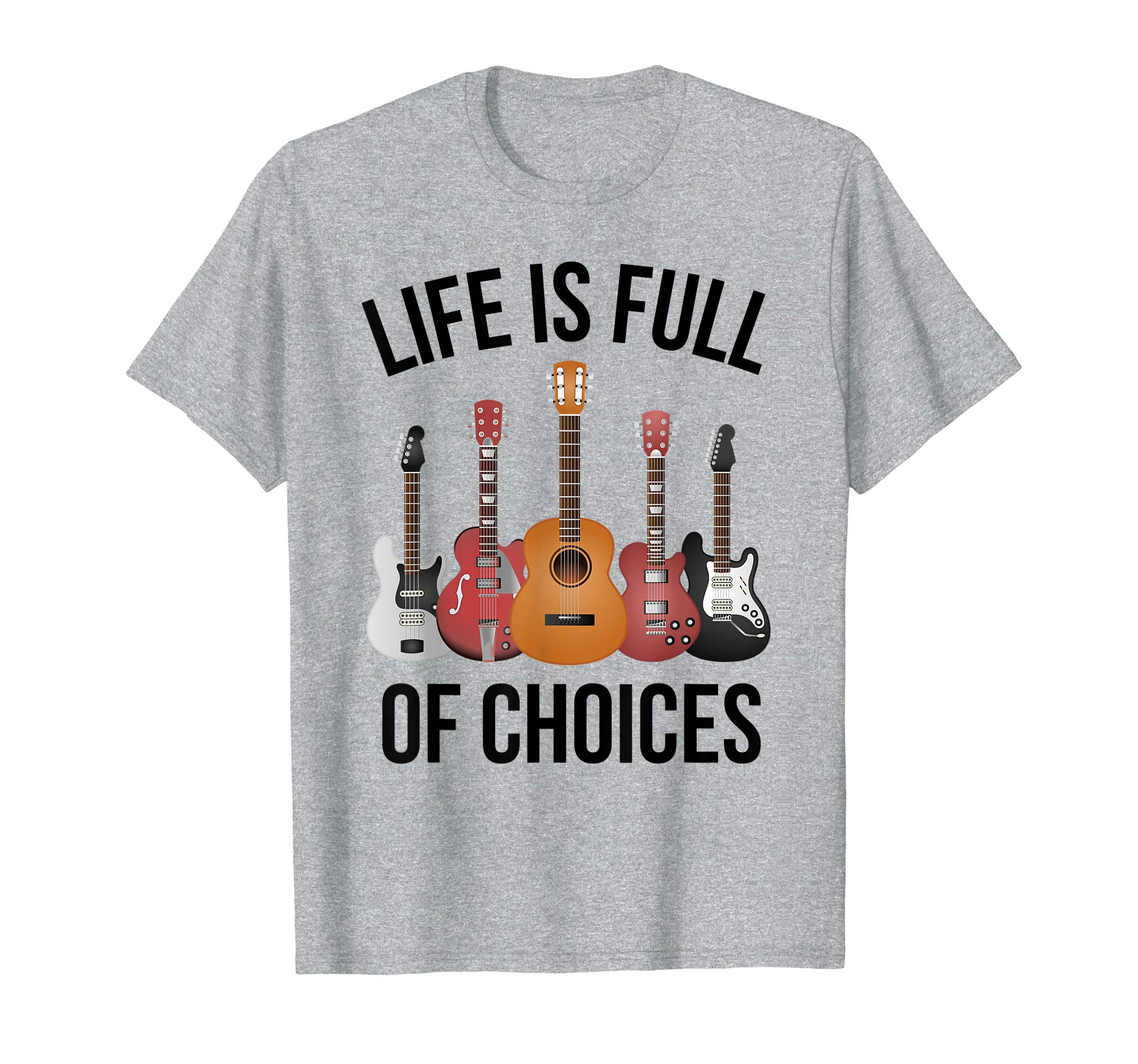 Guitar Gift for Guitar Players Who Own Lots of Guitars T-Shirt by Graysen Guitar T Shirts Gifts