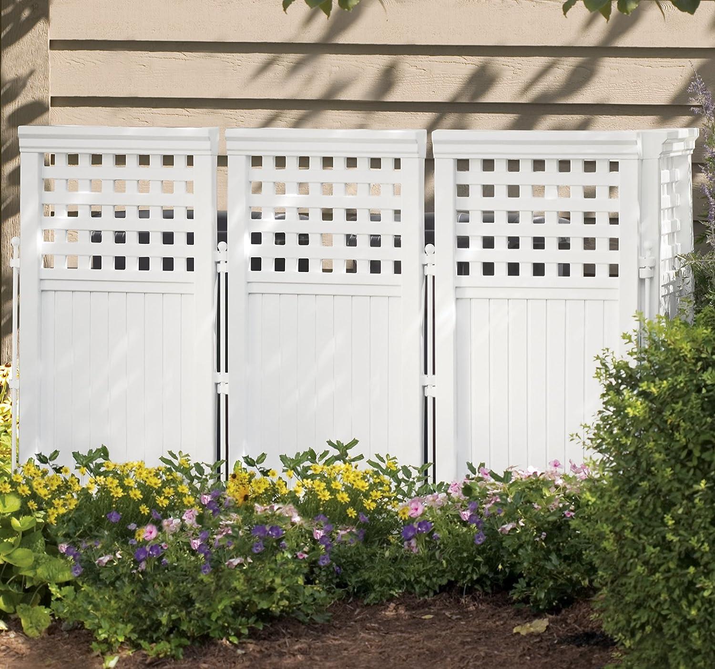Lattice Air Conditioner Screen Amazoncom Suncast Fs4423 Outdoor Screen Enclosure Outdoor