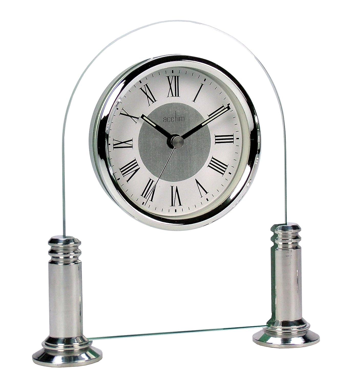 Acctim 36427 Bewdley, Orologio da tavolo, Colore Argento/Bianco