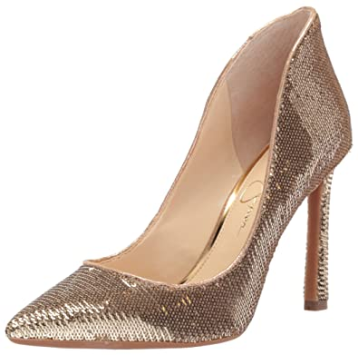 89155e23871 Jessica Simpson Women s Parma Pump Gold-Karat g 5 Medium US