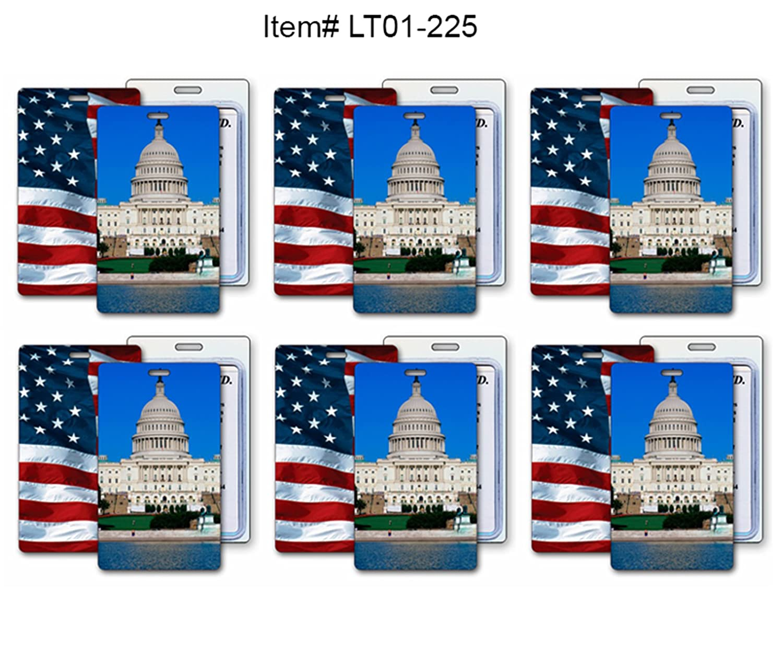 2e07a860d185 Amazon.com : SET OF 6 Lenticular Luggage Tag Plastic Loop Flips ...