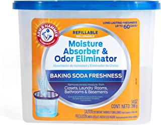 product image for Arm & Hammer Fragrance Free Refillable Moisture Absorber and Odor Eliminator 14 oz. Tub
