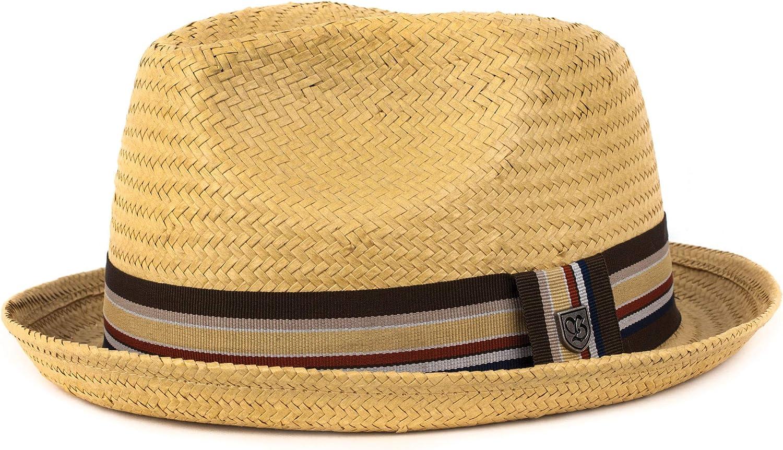 Brixton Men's Castor Straw Fedora Hat: Clothing