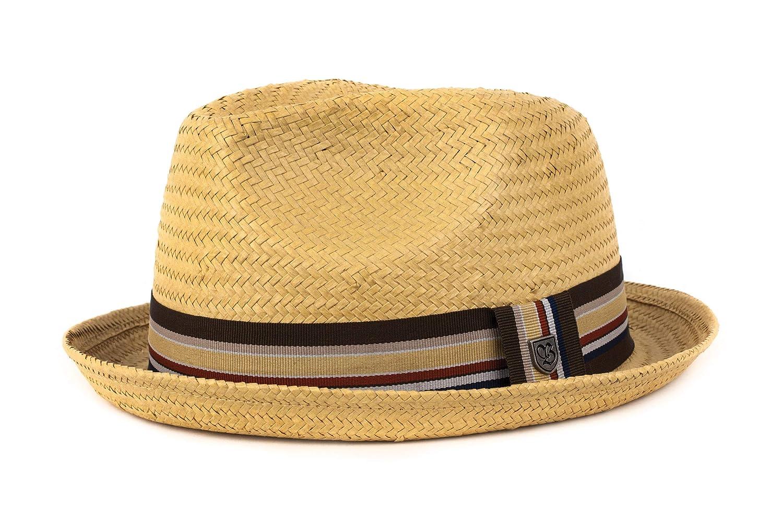 74a07121f07ee Amazon.com  Brixton Men s Castor Straw Fedora Hat  Clothing